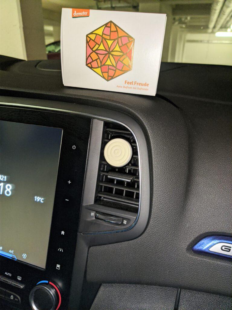 TaoBox - Dufte Laune - Auto-Duftset im Einsatz