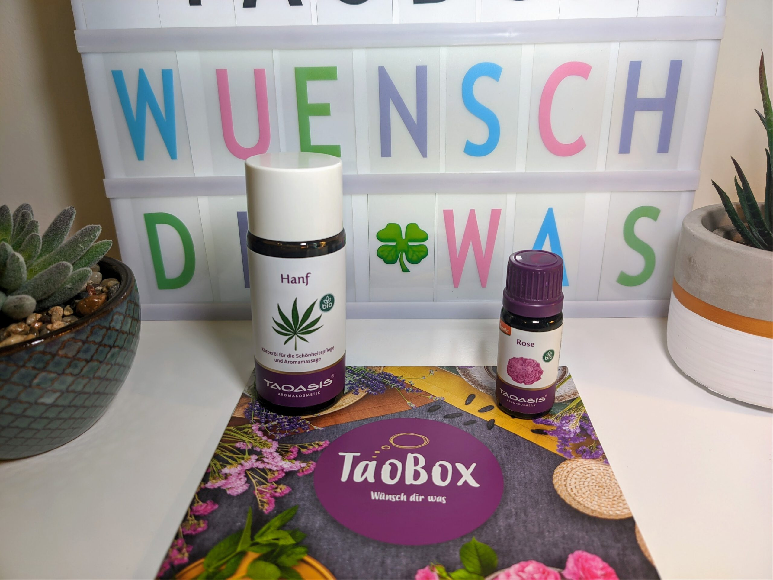 TaoBox – Wünsch dir was – Hanf Körperöl und Rosenöl