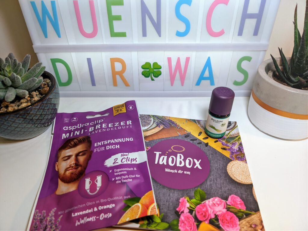 TaoBox - Wünsch dir was - Lemongras Bio Aroma und Mini-Breezer